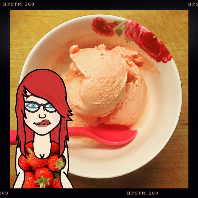 aardbeieenijs